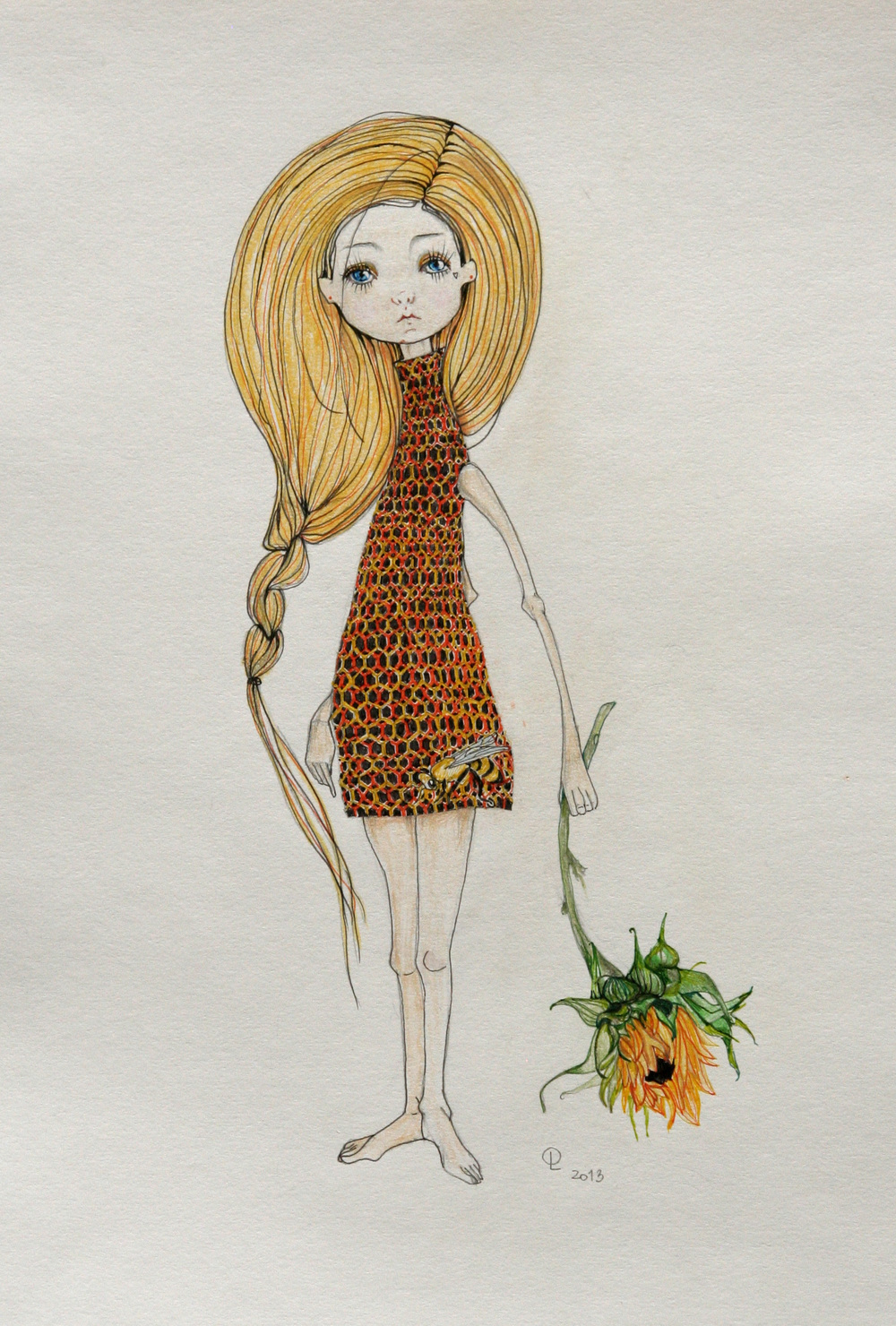 A girl with a sunflower