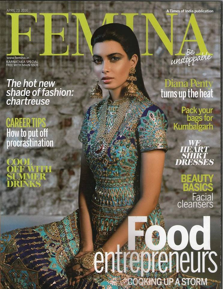 April 2016 Femina: Tasting Room of the Bengaluru Oota Company, a labour of love by Divya Prabhakar and Vishal Shetty