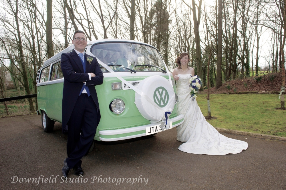 Moomin VW Wedding vehicle