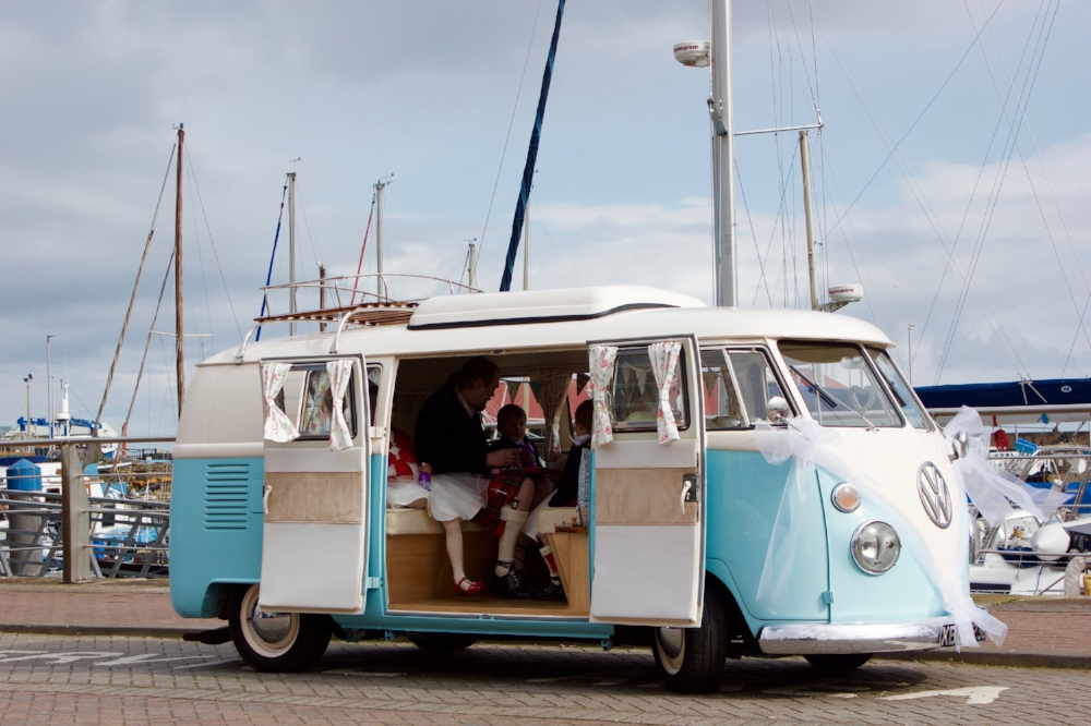 VW Splitscreen Wedding Transport