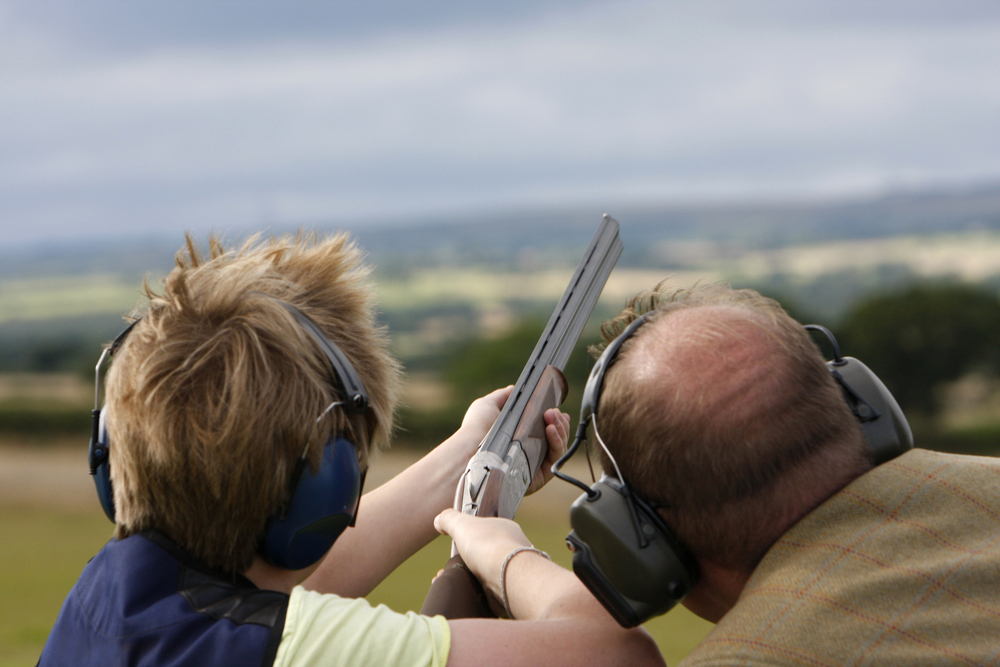 Field sports shooting event at Pengenna Manor in Cornwall 01.jpg