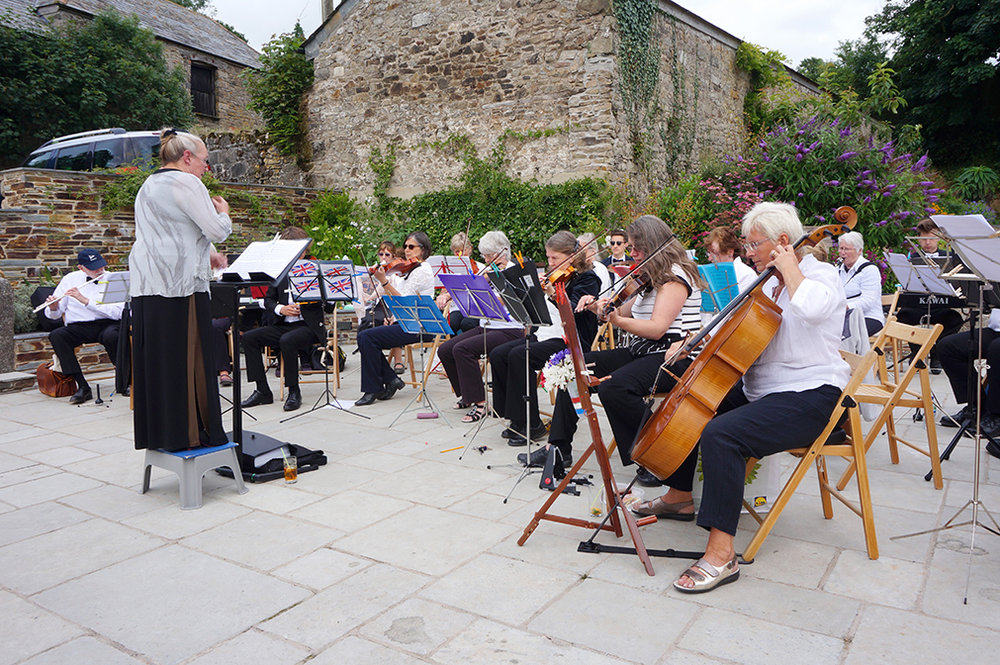 Outdoor SAS orhcestra event at Pengenna Manor event venue in Cornwall.jpg