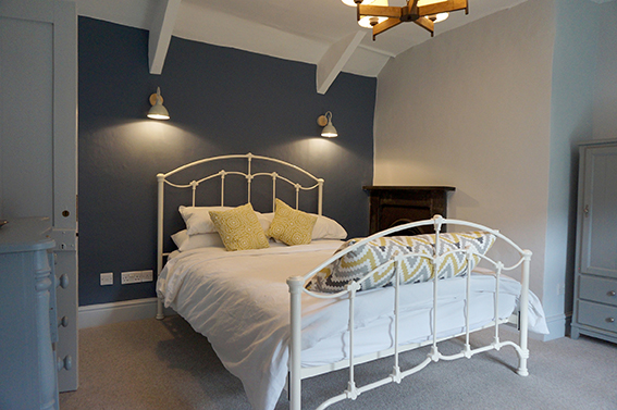Luxury accommodation at Watergate at Pengenna Manor wedding venue in Cornwall Double bedroom 02.jpg