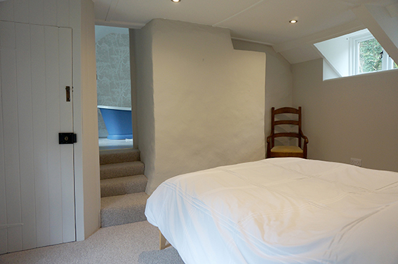 Luxury accommodation at Watergate at Pengenna Manor wedding venue in Cornwall Master bedroom 02.jpg