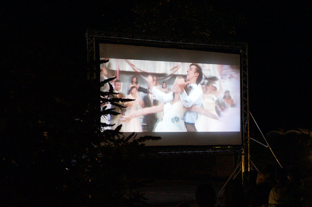 Outdoor open air cinema Grease at Pengenna Manor event venue in Cornwall 04.jpg