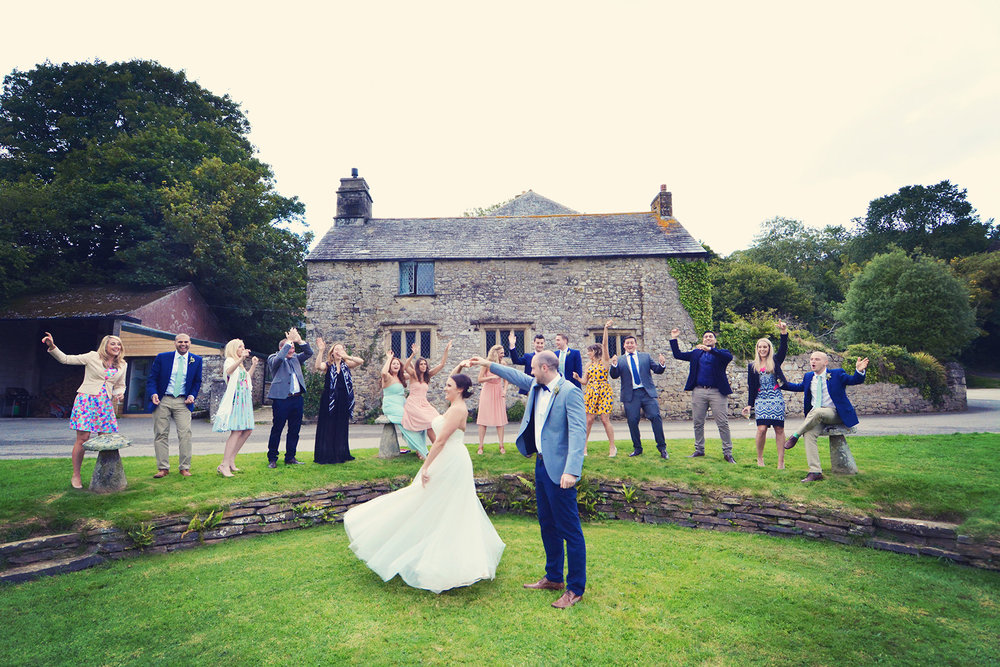 Real wedding at Pengenna Manor in Cornwall wedding venue Hanna & Tom 01.jpg