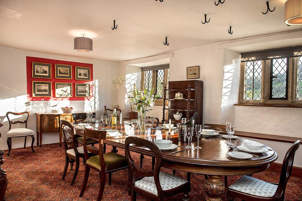 Luxury accommodation at wedding venue Pengenna Manor in Cornwall dining room 01.jpg