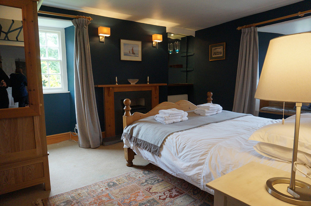 Luxury accommodation at wedding venue Pengenna Manor in Cornwall downstairs bedroom 02.jpg