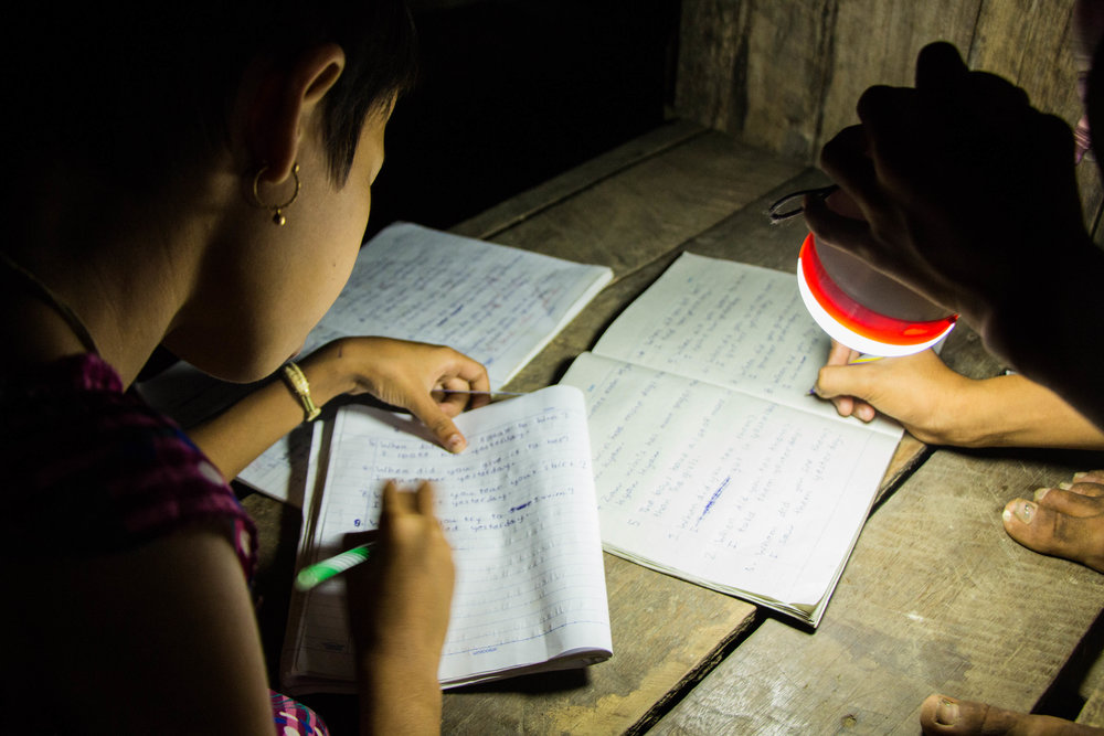 Solar lamps for studies in the eavening