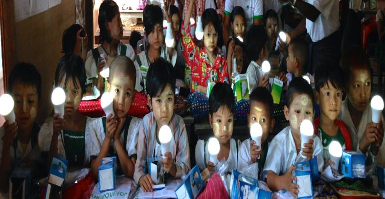 Distribution of Solar Light to children