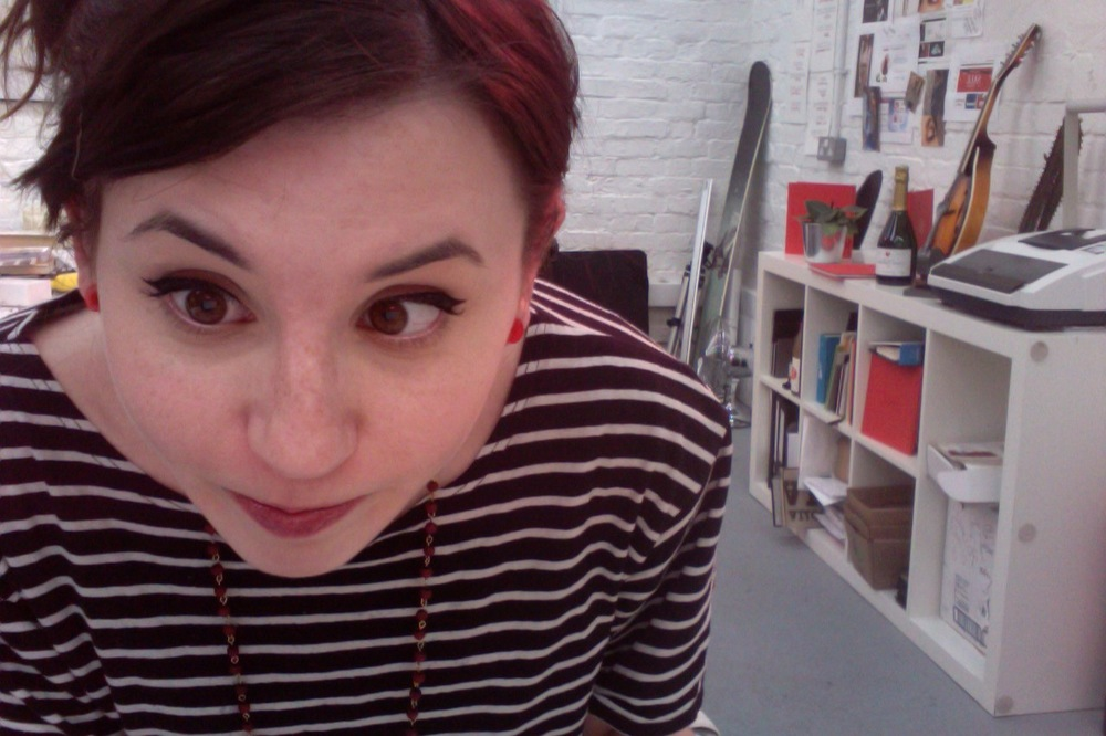 Here, our PR Intern Laura demonstrates how to use a webcam…or how not to rather.