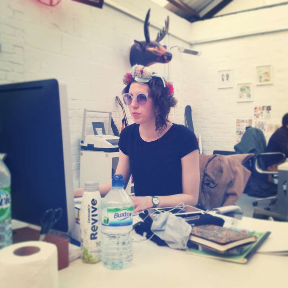 Today, our PR intern Laura embraces her inner Gaga with a garland of handcrafted pom poms and an eighties side ponytail Madonna in her heyday would have been proud of.    Perfectly paired with feline 50's sunglasses, some people may see the world with rose tinted glasses but when it comes to Miss Cake life is lovely in lavender.