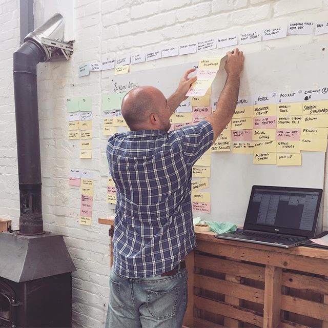 When a Dev gets involved in roadmapping...things get serious! #agencyagile #agileprocess #ecommerce #folkdigital #digitalagency