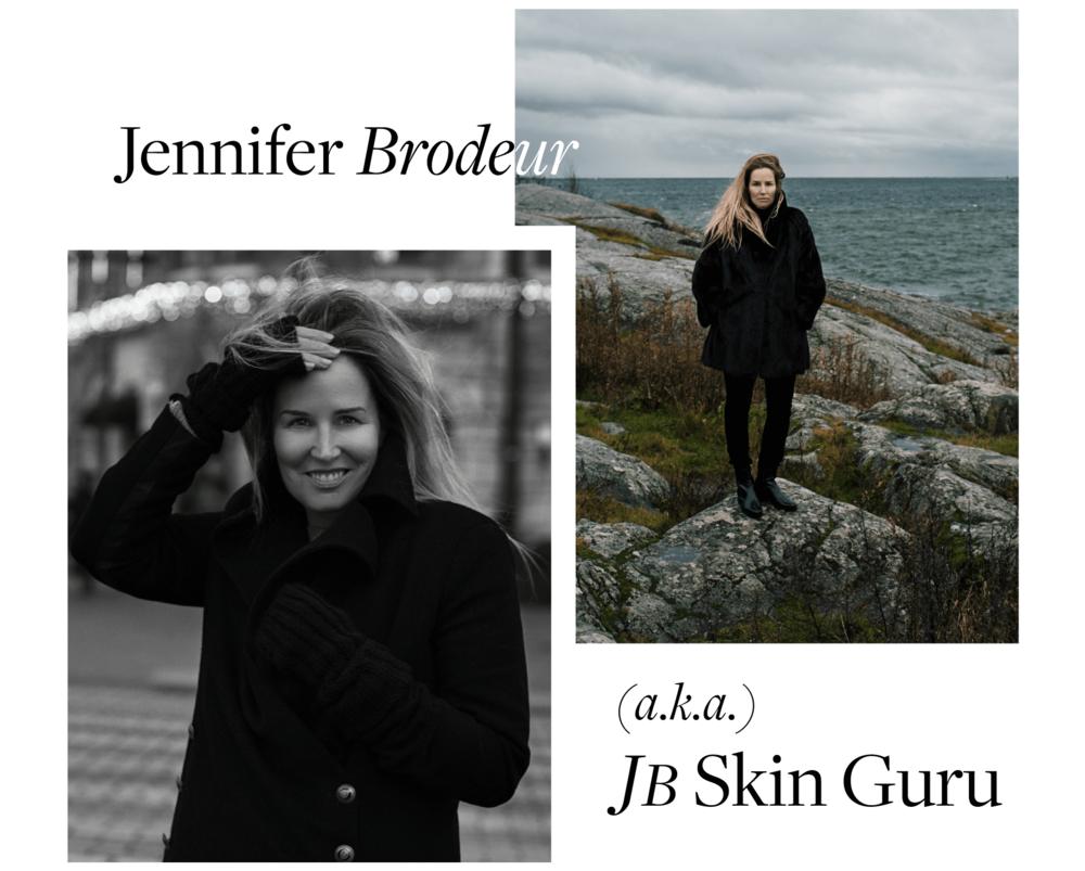Jennifer Brodeur, a.k.a. JB Skin Guru, Founder & CEO.