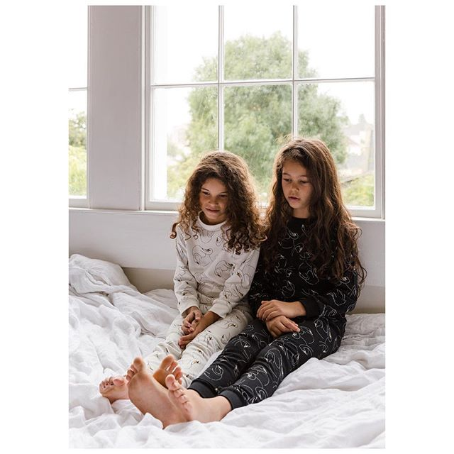 Swansy White | Swansy Noir. The gentle print story reflecting Memories of Summer  is online now, available in sleepwear and interiors. Thank you to @kathrynzaremba @mother_feels @lucyirby @hamelie and @hana.snow for all your help making this happen. Campaign shot by @ashjamesphotography. #mysleepydoe