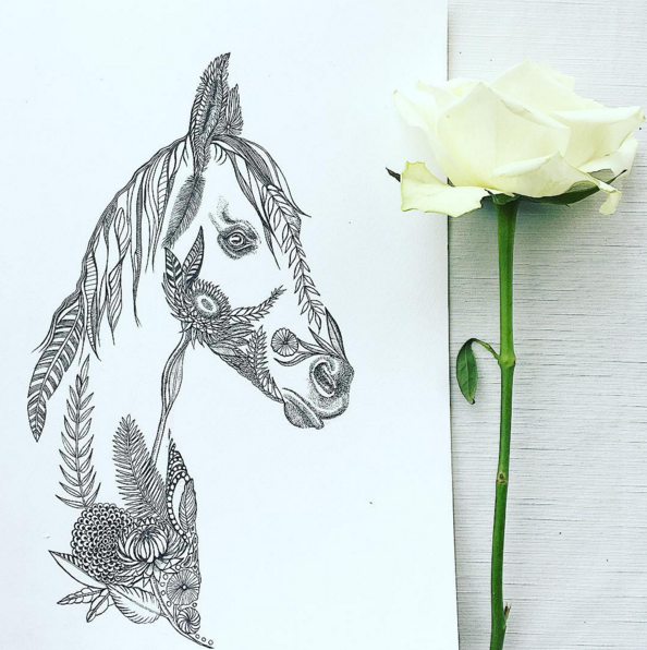 Horse Drawing | Horse Art | Equine Art