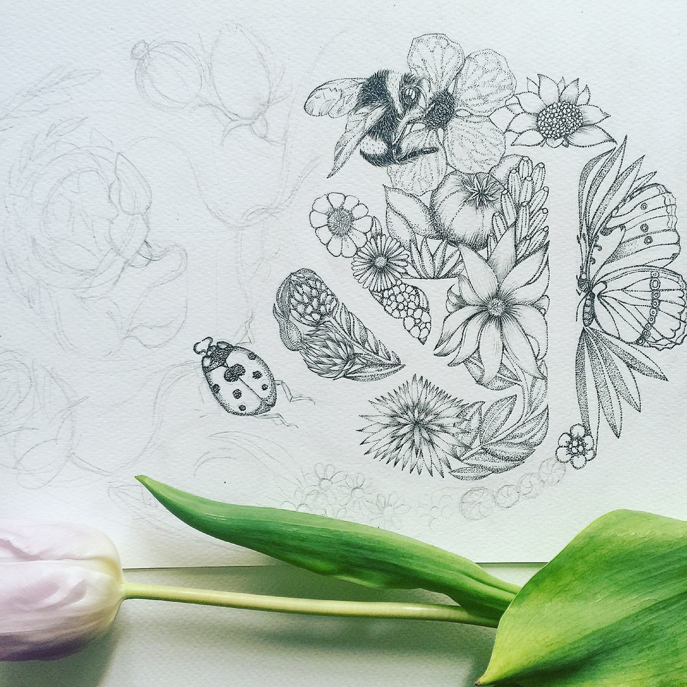 Botanical Drawing | Wedding Invite | Wedding Art