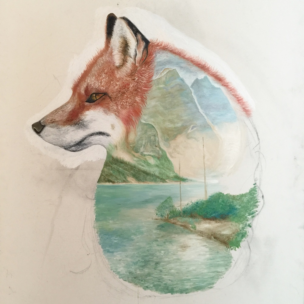 Fox Art | Fox Oil Painting | Animal Art