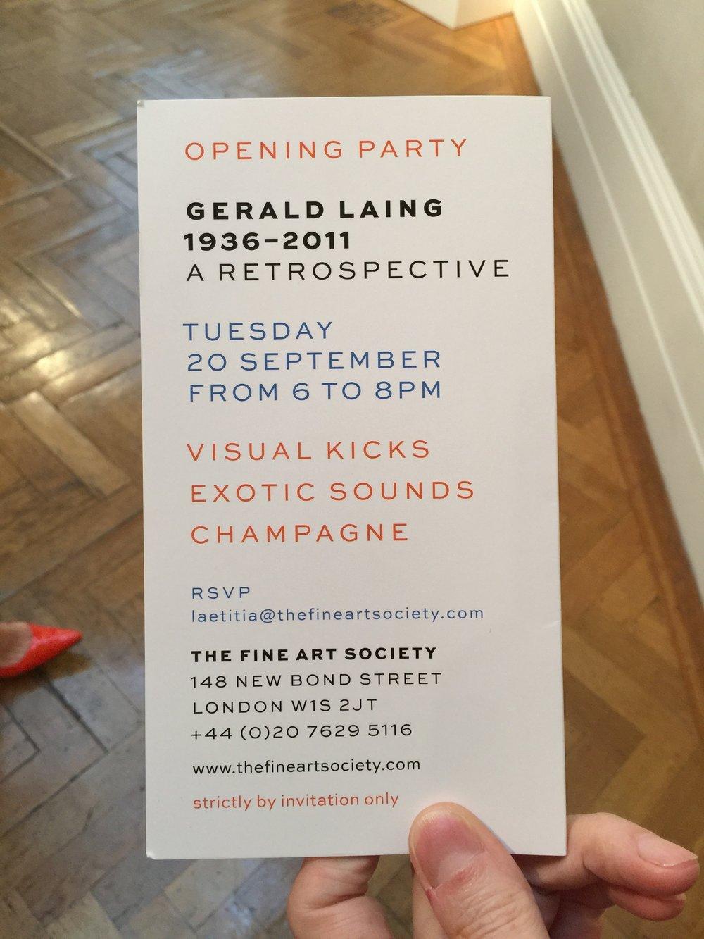 Gerald Laing | The Fine Art Society | New Bond Street