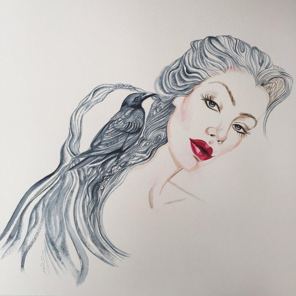 Watercolour Portrait | Fashion Illustration | Animal Art