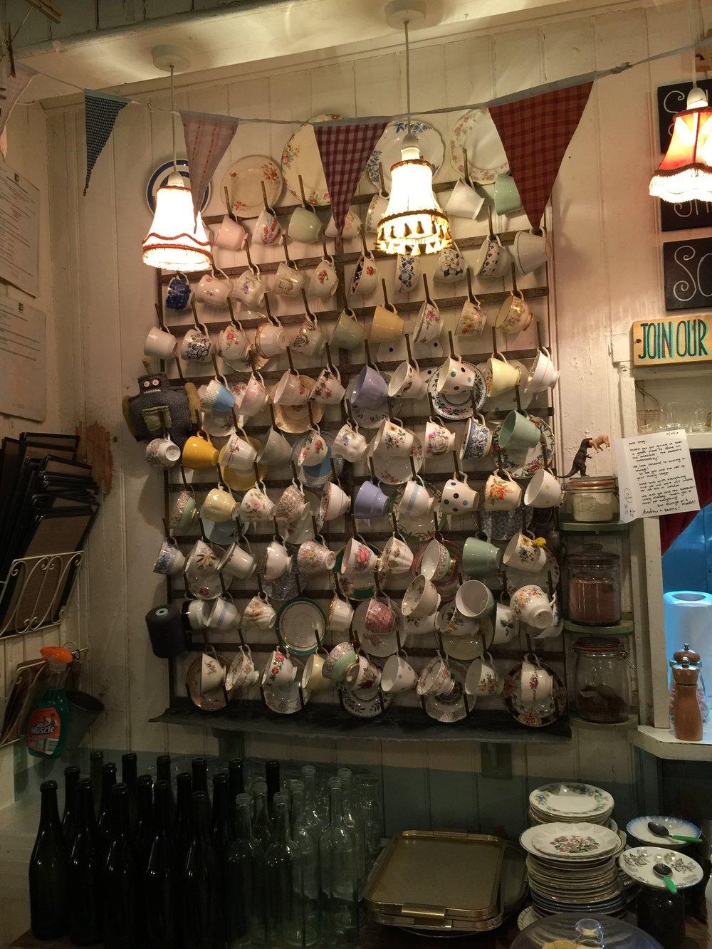 The Haberdashery vintage teacups