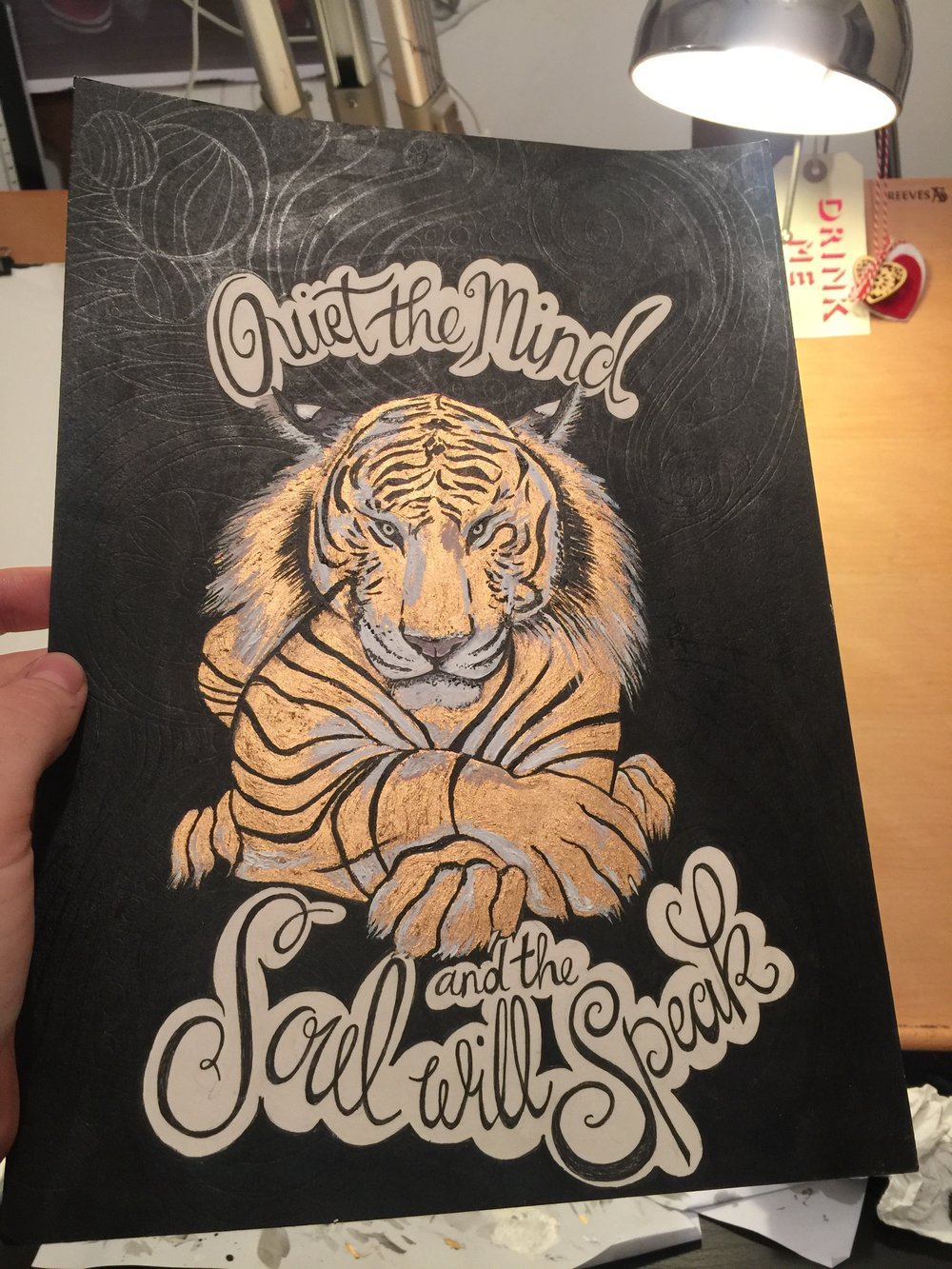 Quiet the mind and the soul Will Speak Gold Tiger