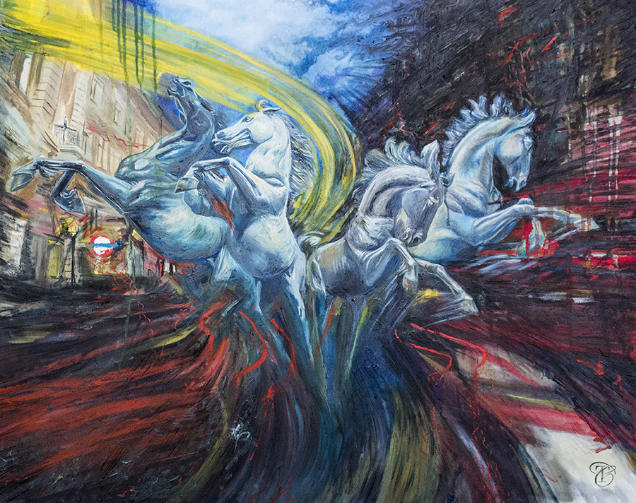 The Horses of Piccadilly | The Horses of Helios | Horse Art | London