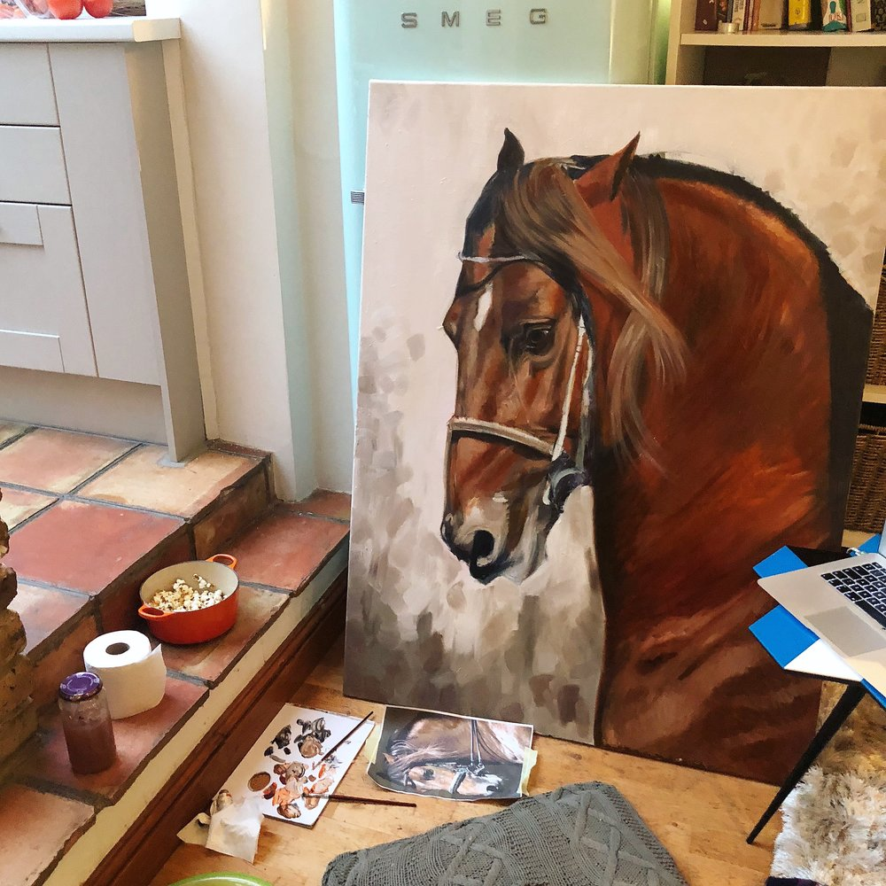 Horse Art | Horse Canvas Art | Large Horse Painting
