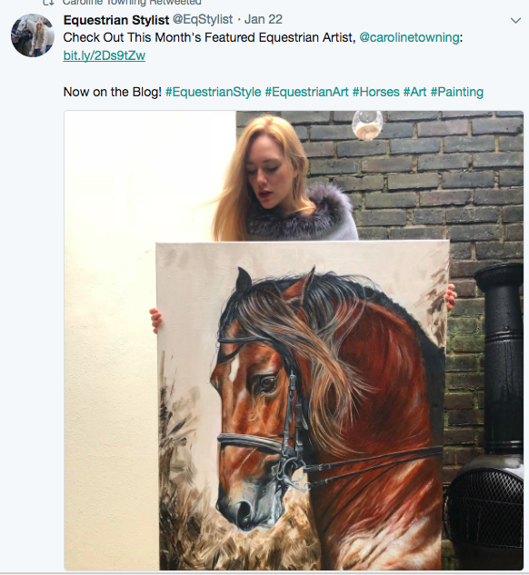 Featured in Equestrian Stylist | Horse Artist