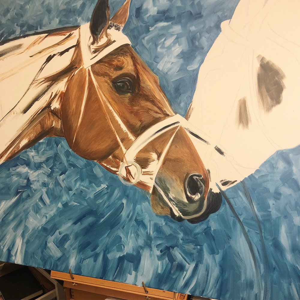 Thoroughbreds | Horse Racing Art | Horse Painting Artists