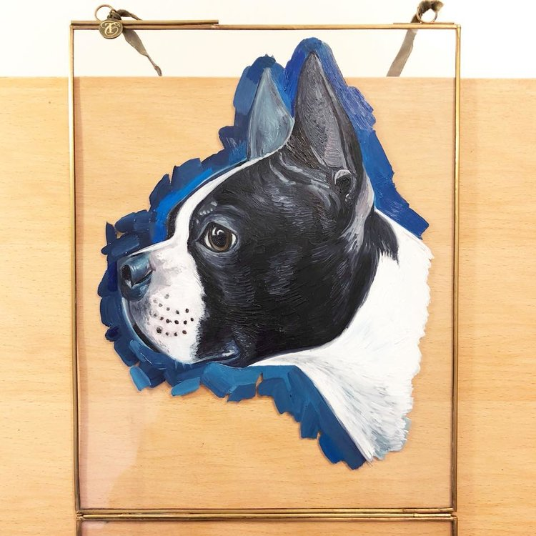 Boston Terrier | Dog Art | Dog Canvas | British Vogue