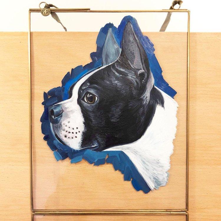 Boston Terrier | Dog Art | Dog Canvas | British Vogue