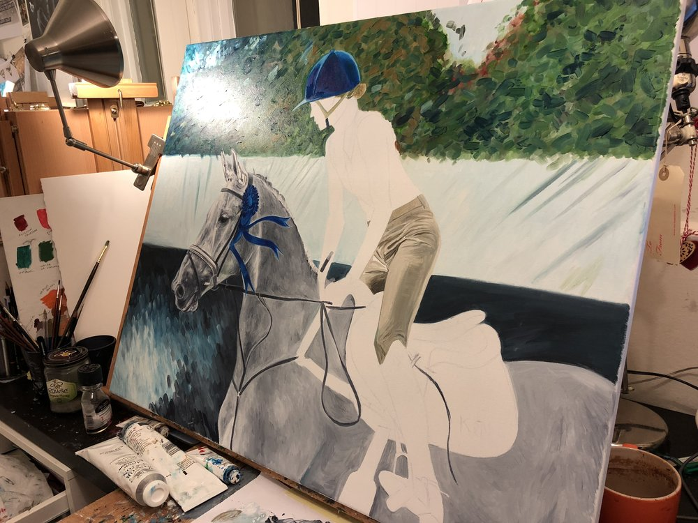 Edie Campbell | Horse Art | Equestrian Artwork