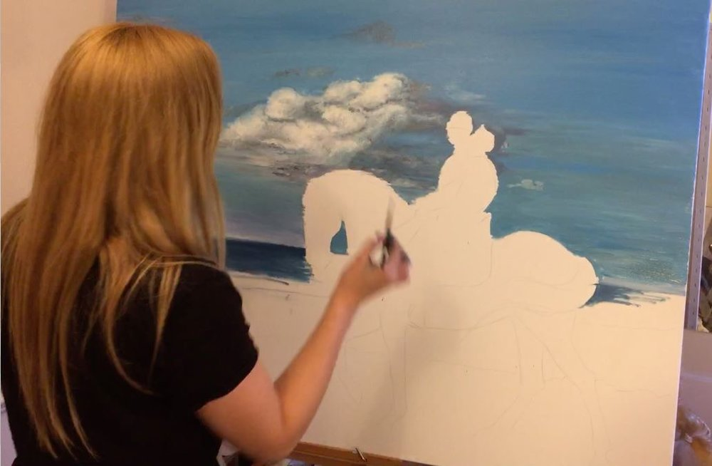 Sea Horse | horse Wall Art | Horse Paintings on Canvas