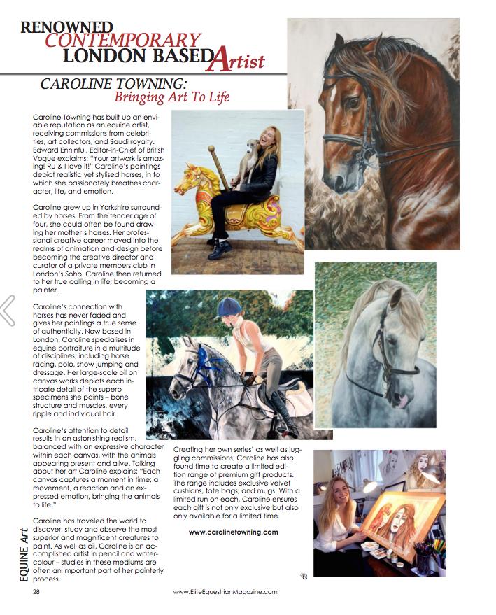 Elite Equestrian | Horse Art | Press