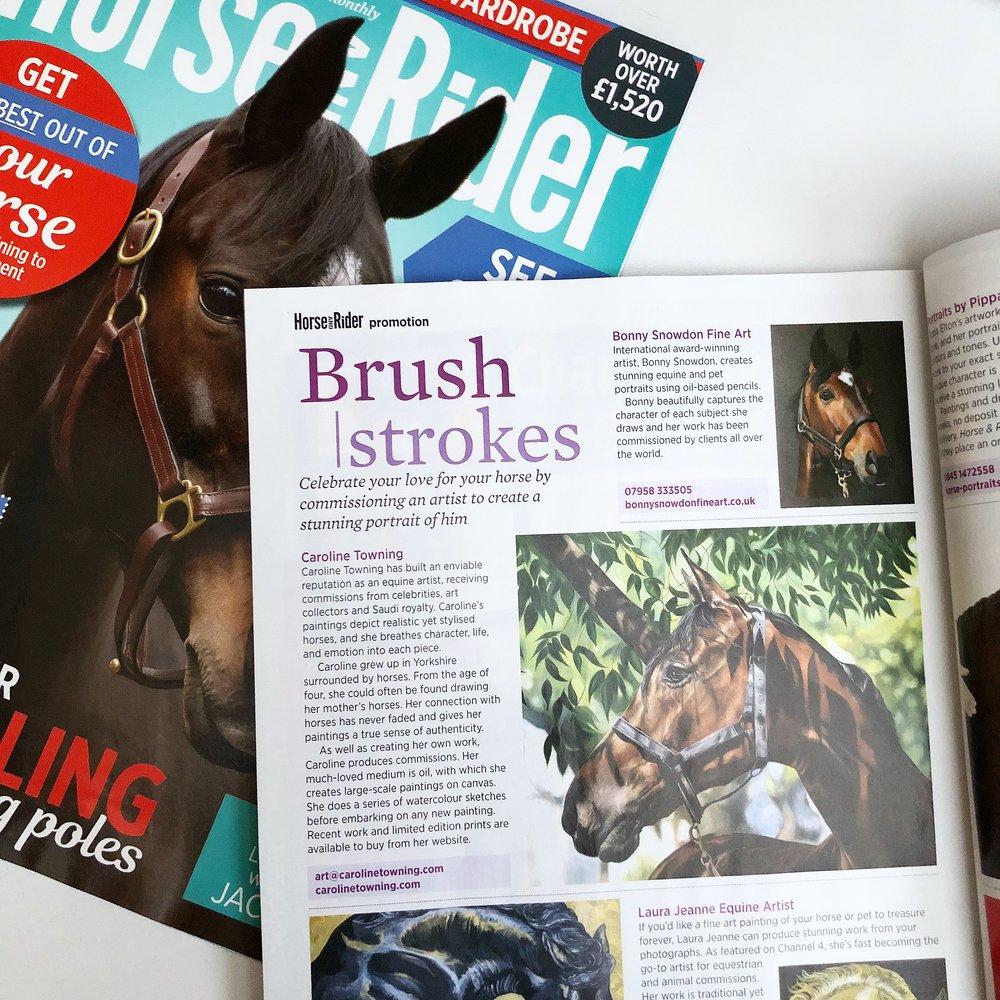 Horse & Rider | Horse Art | Press Feature