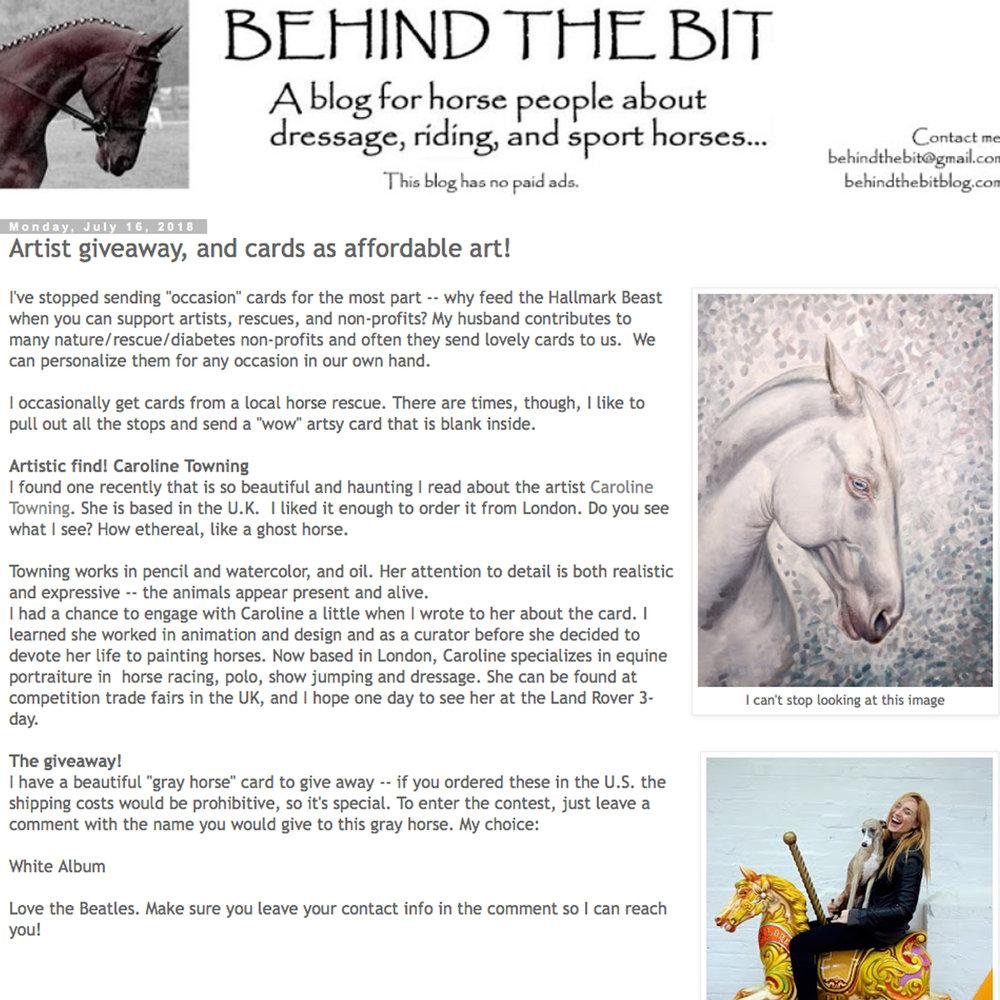 Behind The Bit Blog | Art Giveaway | Equine Art