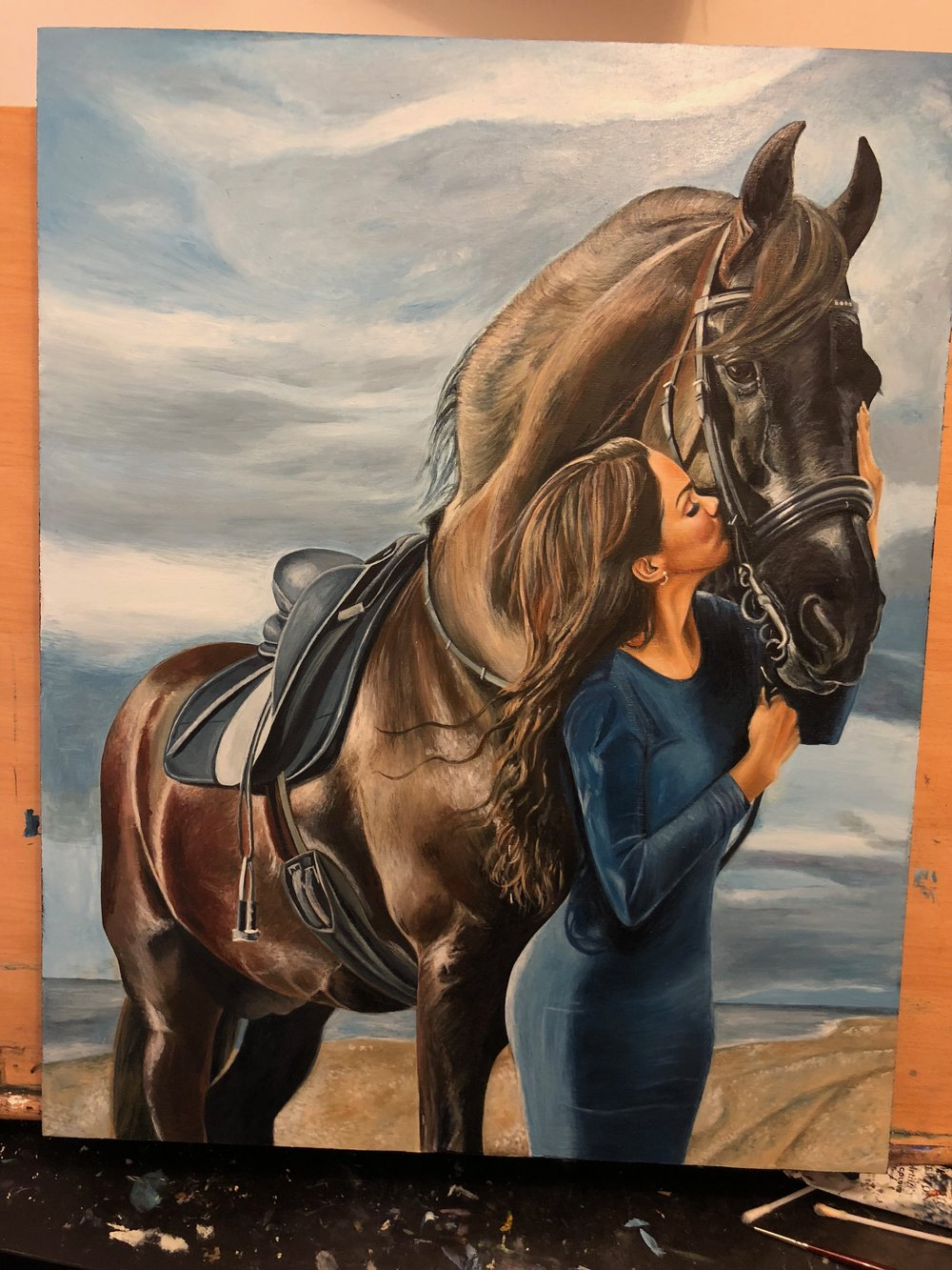 Friesian Horse | Horse Art | Portrait Painting