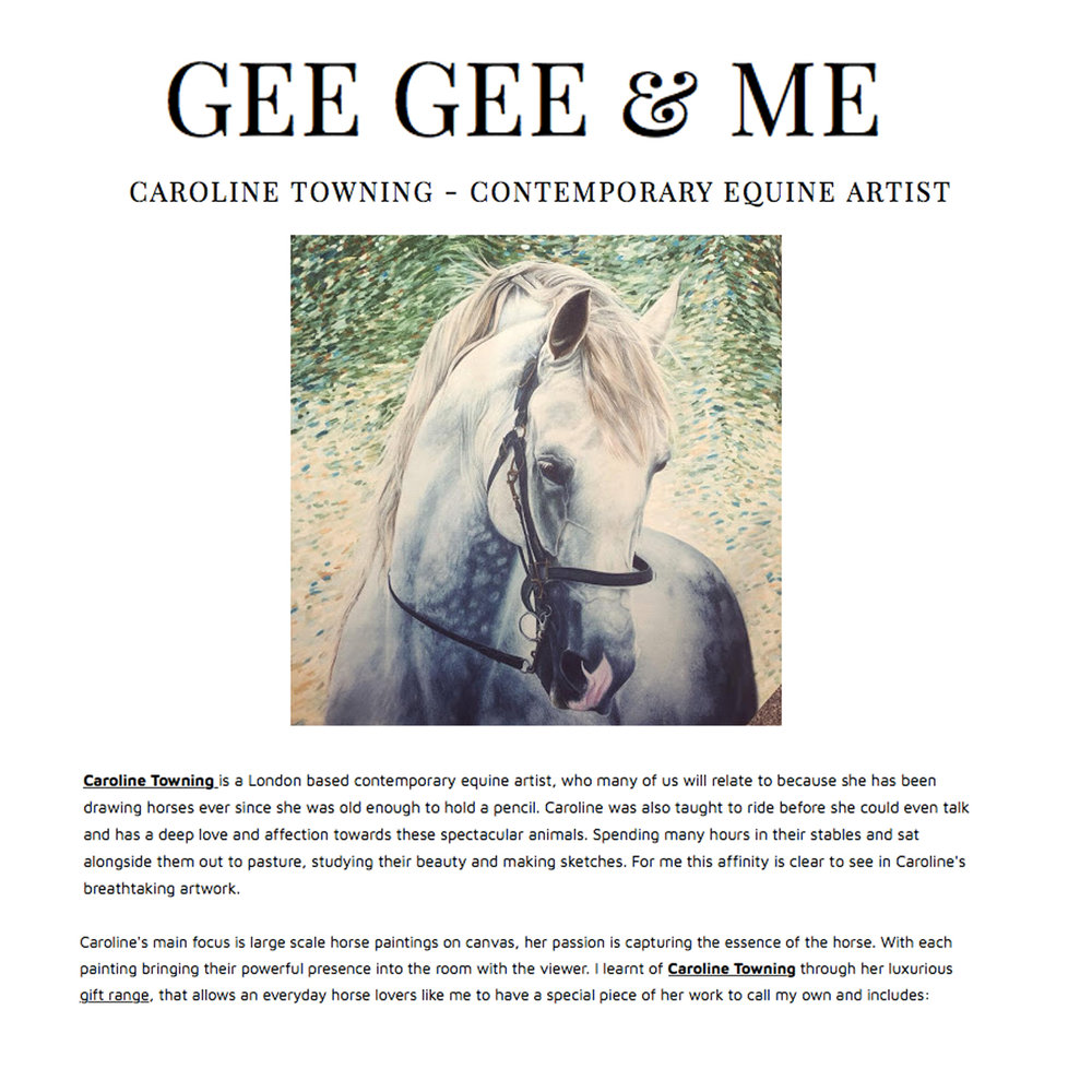 GEE GEE & ME | Horse gifts | press