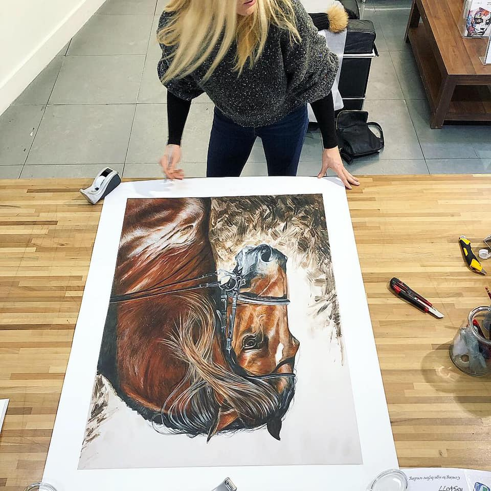 Caroline Towning Signing Horse Art