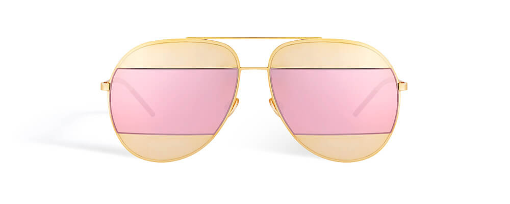 Gold-tone-metal-inserts-with-pink-mirrored-lenses