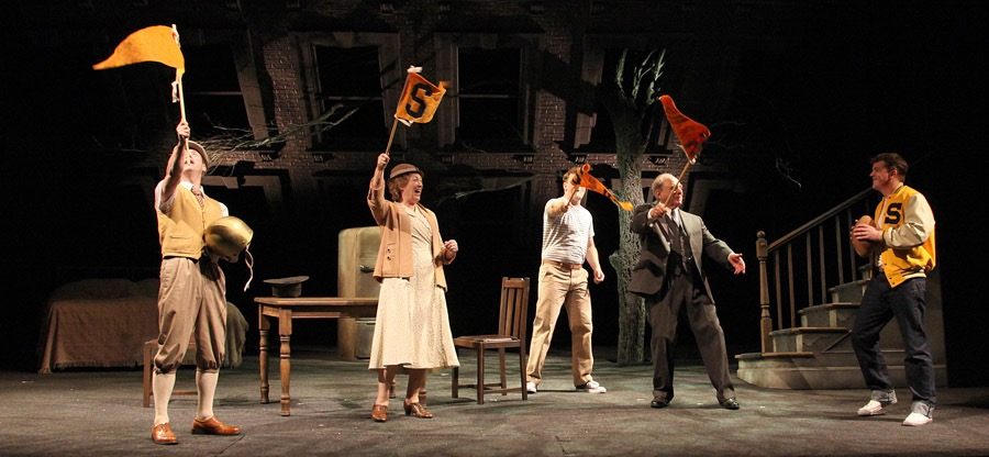 Peter Daly, Deirdre Donnelly, Rory Nolan, Harris Yulin and Gareth Lombard in 'Death of a Salesman' by Arthur Miller at th~1.jpg