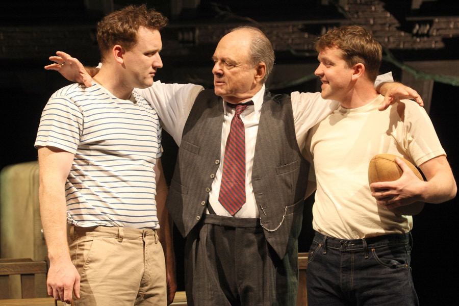 Rory Nolan, Harris Yulin & Garrett Lombard in the Gate Theatre production of 'Death of a Salesman' by Arthur Miller.jpg