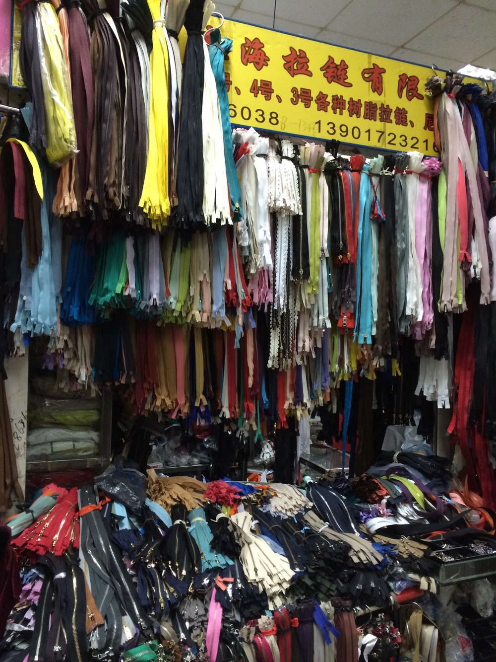 One vendor's booth in the warehouse where you went for trim.