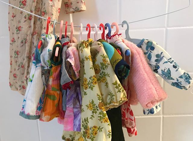 Washing homemade doll clothes today. #flashback70s #perfectmom #thatexplainswhyidesigncostumes