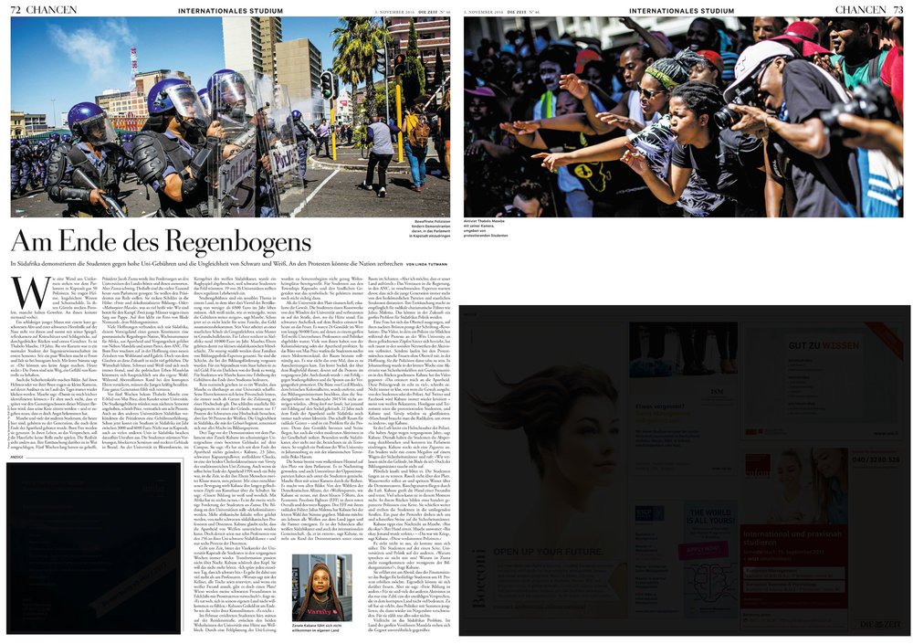 #FeesMustFall for ZEIT Newspaper