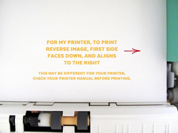 Printing on Reverse