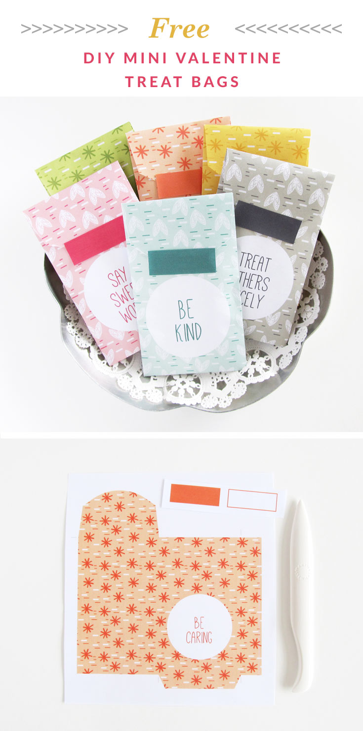 Mini DIY Valentine Treat Bags