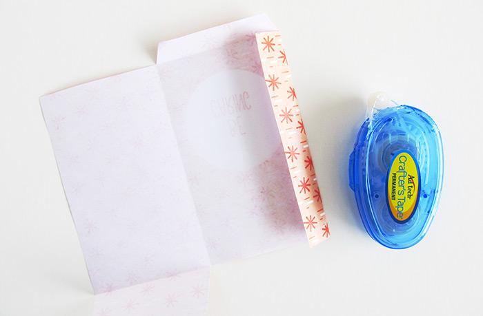 paper bag tutorial glueing