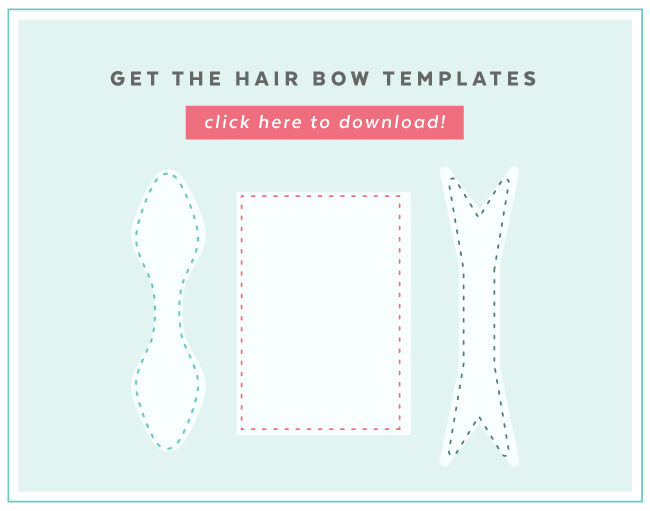 DIY Hair Bow sewing templates